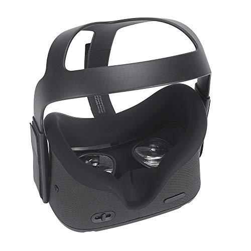 Eyglo Silicon VR Cover Facial para Oculus Quest VR Headset Resistente al Sudor Impermeable Almohadillas Faciales de Repuesto (Negro)