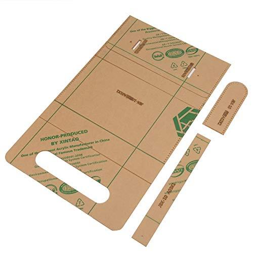 Klare Acryl-Schablone, Reißverschluss-Brieftasche Handtaschen-Schablone für DIY-Leder-Bastel-Brieftasche Acryl-Schablone
