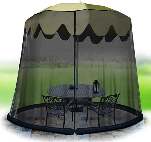 Jobar International 11ft Umbrella Table Screen -BLK