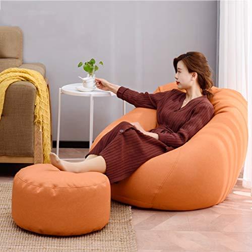Lazy Sofa-zak, zitzak, stoel voor volwassenen, extra groot, met zachte microvezelhoes, hoge kwaliteit, milieuvriendelijk, deeltjesvulling, woonkamer, slaapkamer Large A02