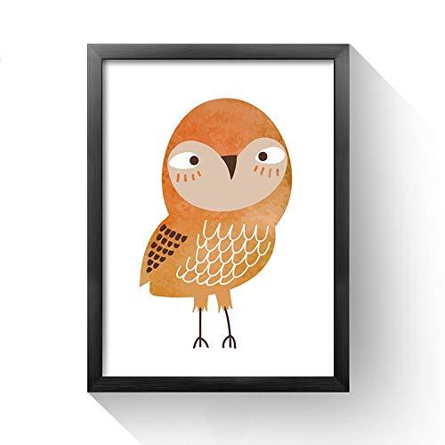 Nette Eule Adler Finch Cartoon Schöne Vogel Tier Poster Kinderzimmer Kinderzimmer Wohnkultur Zimmer Wohnzimmer Wandkunst Leinwand Malerei 60 * 100cm