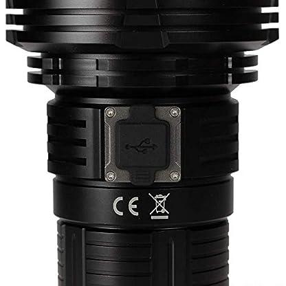 fenix LR40R Rechargeable 12000 Lumen Search Torch, Black, 2