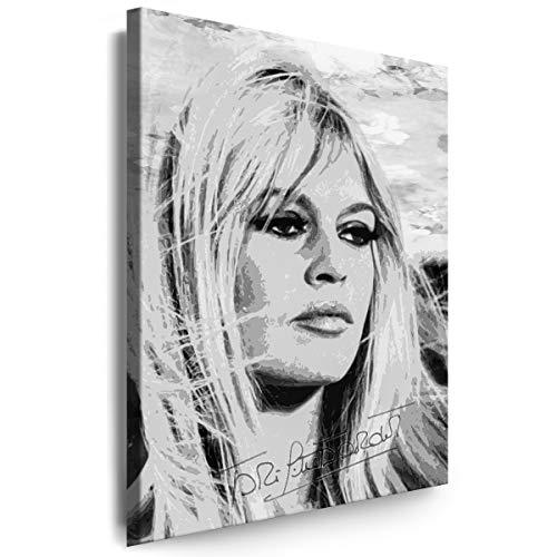 Myartstyle - Bilder Brigitte Bardot 60 x 40 cm Leinwandbilder XXL - 1 Teilige Wandbilder Hollywood Legenden Film Kunstdrucke w-S-2020-73