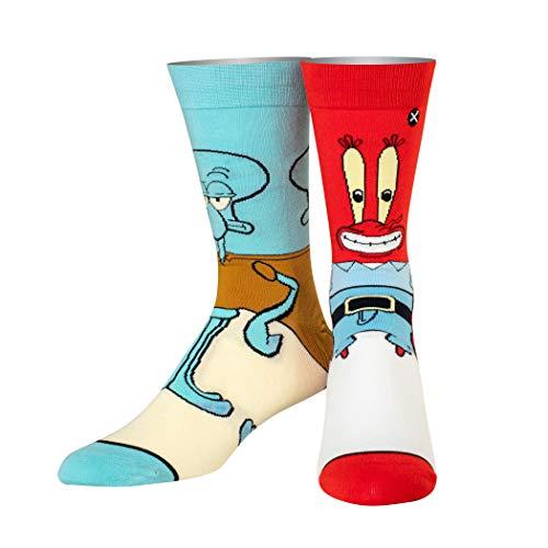 Odd Sox, Nickelodeon SpongeBob SquarePants Novelty Cartoon Socken - - Large
