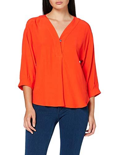 ESPRIT Collection Damen 060EO1F303 Bluse, 825/RED ORANGE, 38