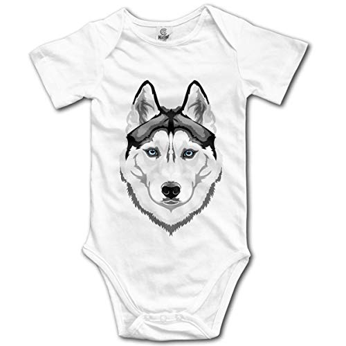 Klotr Ropa para Bebé Niñas Niños Husky Newborn Bodysuits Short Sleeved Romper Jumpsuit Outfit Set