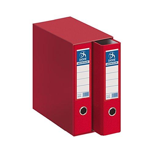 Dohe Archicolor - Módulo 2 archivadores, folio lomo ancho, color rojo ⭐
