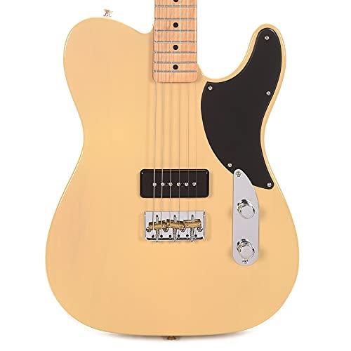 Fender Noventa Telecaster Electric Guitar, Maple Fingerboard, Vintage Blonde
