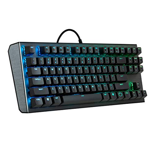 Cooler Master CK530 Mechanische Gaming-Tastaturschalter, RGB-Hintergrundbeleuchtung, On-The-Fly-Bedienung, Aluminium-Oberplatte