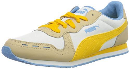 PUMA Damen Cabana Run Print WNS Sneaker, White-Spectra Yellow-Pale Khaki, 38 EU