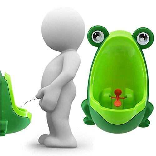 Bureze Lovely Frog enfants Enfants Potty amovible WC Urinoir Early Learning garçons Pee Trainer de salle de bain