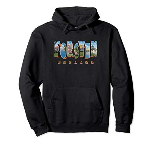 Forsyth Montana MT Vintage Retro-Souvenir Pullover Hoodie