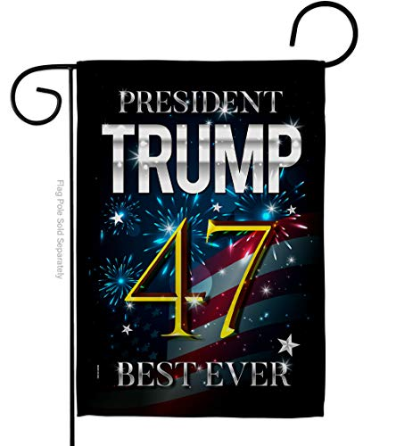 Trump Flag 46 Best Ever Garden Flag Patriotic Vote Keep America President Republican Party United State American Election House Banner Small Yard Gift Double-Sided, Made in USA