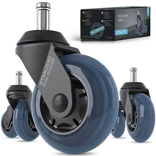 STEALTHO Patented Replacement Office Caster Wheels