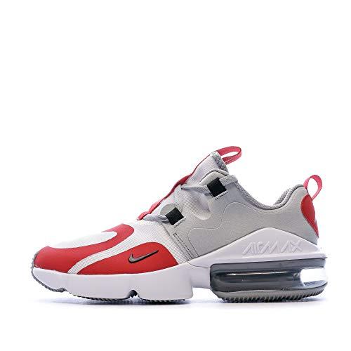 Nike Air Max Infinity GS Running Trainers BQ5309 Sneakers Schuhe (UK 3.5 us 4Y EU 36, White Black University red 101)