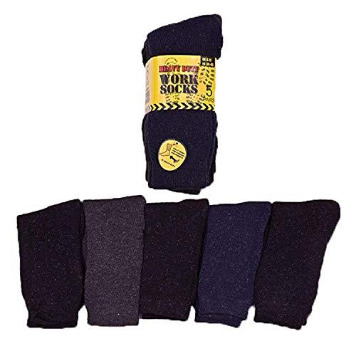 IMTD – I'm Totally Different Lot de 5 paires de Chaussettes Hivernales de Travail pour homme - Extra Confortables, Chaudes & Épaisses - Multicolore