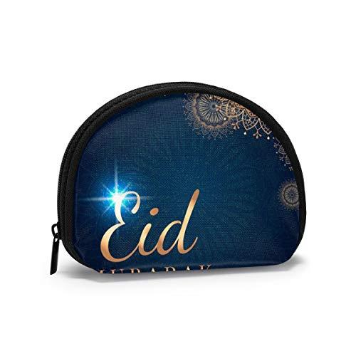 Eid Mubarak Mandala Arabia pequeño Monedero para Mujer Lindo Monedero para niña Bolsa de Monedas Bolsa de Almacenamiento Cartera