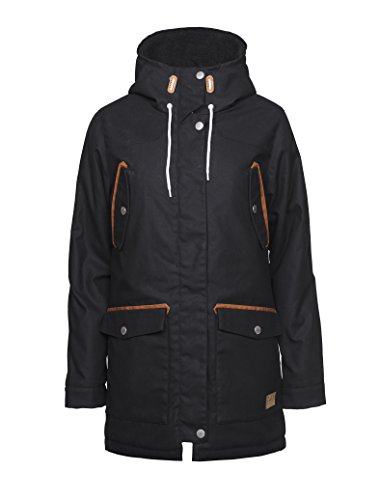 CLWR (Colour Wear) Damen Range Parka, Black, S