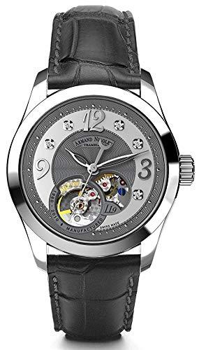 Reloj armand nicolet ll9 9653a-gs-p953gr8 automático orologio Donna...