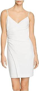 BLACK HALO Womens Ivory Textured Spaghetti Strap V Neck Short Sheath Cocktail Dress AU Size:18