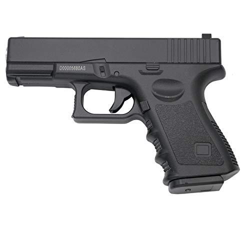 Galaxy Pistola G15 Tipo Glock 19 - Negra - Pistola Muelle Calibre 6 mm Aleación de Metal y Zinc - Energía 0.33 Julios - Velocidad de Disparo 82m/s - 268 FPS. Ref:G15