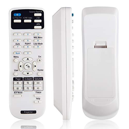 OMAIC Projector Remote Control for Epson Projectors Home Cinema EB EMP EX VS H BrightLink Powerlite Series