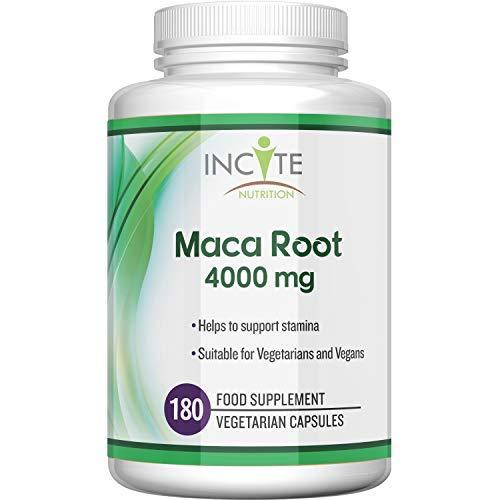 Maca Root Capsules 4000mg, 180 Capsules (6 Month Supply) Vegetarian Capsules not Powder, Oil or Tablets - Vegan Maca