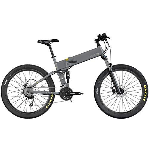LEGEND EBIKES ETNA Smart Bicicleta eléctrica de montaña Plegable, Unisex Adulto, Gris Titanium, 36V 14Ah