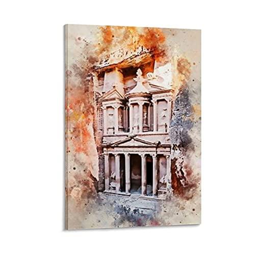 Petra Treasury Jordania - Póster decorativo para pared (50 x 75 cm)