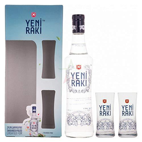Yeni Raki 45% - 700ml in Giftbox with 2 glasses