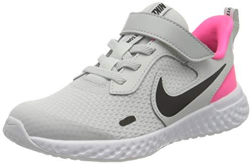 Nike Revolution 5 (PSV), Zapatillas para Correr Unisex Niños, Photon Dust Black Hyper Pink White, 27.5 EU