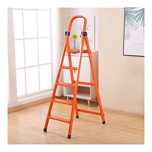 Escalera De Mano Taburete De Escalera Plegable De 5 Escalones Escalera De Metal Portátil con Empuñadura De Seguridad Y Pedal (Color : 1pcs Ladder A)