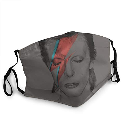 David Bowie Reusable Breathable Face Mask Anti-Dust Wind Mouth Mask Black
