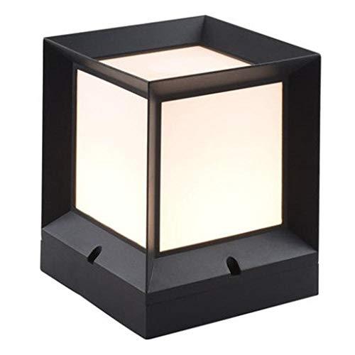 LED Außenlampe Pfostenleuchten für Außen, Zaunkappe, Pfosten Licht,Wegeleucht,Wasserdichte Gartenleuchte aus Aluminium,Für Terrassen, Innenhöfe