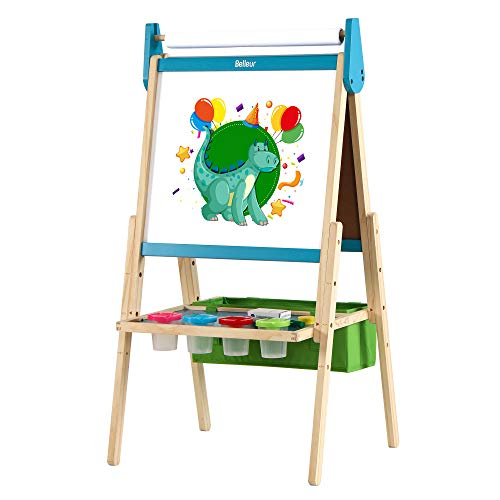Belleur Kids' Easel with Paper Roll, Standing...