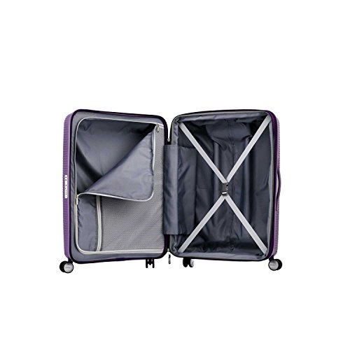 American Tourister Curio Hardside Luggage with Spinner Wheels, Purple, Checked-Large 29-Inch