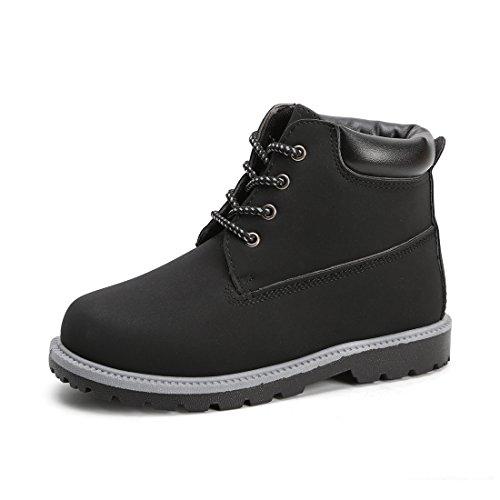 Hawkwell Kids Classic Ankle Boot(Toddler/Little Kid),Black PU,9 M US
