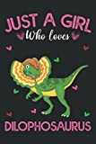Just A Girl Who Loves Dilophosaurus: Dilophosaurus Blank Lined Composition Journal Notebook To Write Notes password, Notepad, To Do Lists