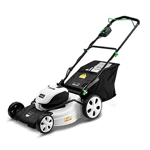 60L électrique rotative Tondeuse, Tondeuse électrique rechargeable 40V / 4.0Ah Batterie au lithium Tondeuse, coupe 35-92mm hauteur, 7 niveaux réglables