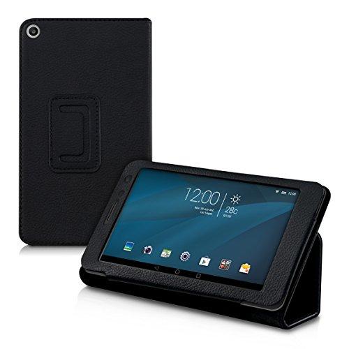 kwmobile Hülle kompatibel mit Huawei MediaPad T1 7.0 - Slim Tablet Cover Case Schutzhülle mit Ständer Schwarz