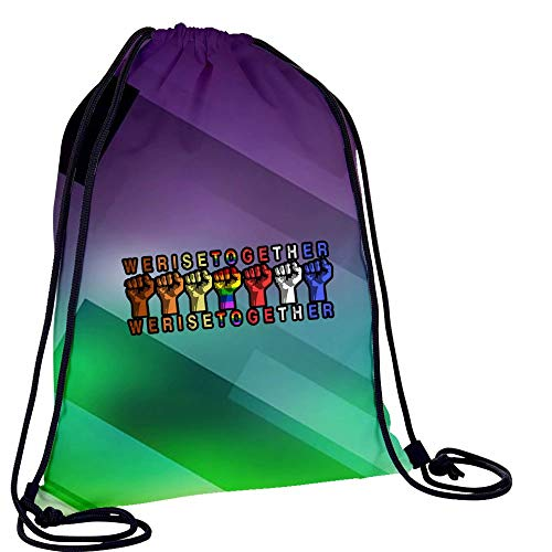L-RIN Waterproof Draw String Bag We Raise Together Training Cinch Bag