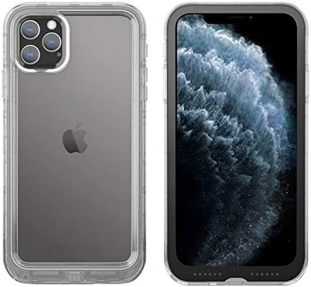Pelican iPhone 11 Pro Max Case, Marine Case – Military Grade Drop Tested – TPU, Polycarbonate, Liquid Silicon Protective Case for Apple iPhone Xs Max (Clear/Black), C57040-001A-CLBC