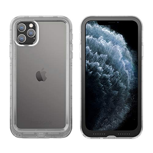 Pelican iPhone 11 Pro Max Case, Marine Case - Military Grade Drop Tested  TPU, Polycarbonate, Liquid Silicon Protective Case for Apple iPhone Xs Max (Clear/Black), C57040-001A-CLBC