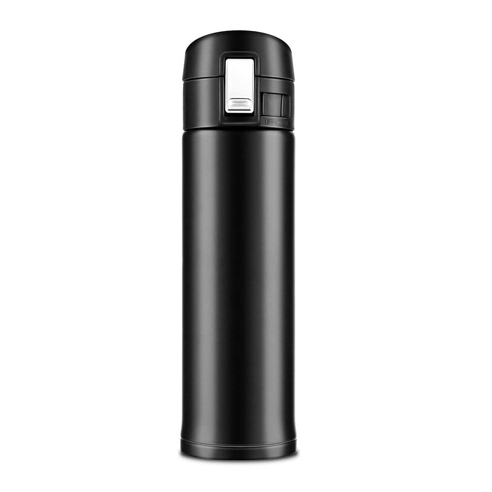 Newdora ボトル 保温水筒500ml真空断熱ボトル ステンレス BPAフリー 12時間保温 24時間保冷 直飲み 軽量 携帯便利 クリーニングブラシ付属 運動会・外出・出張・旅行