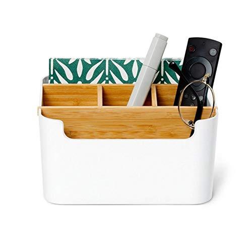 NKIE Almacenamiento Mostrar Fuerte, Escritorio Caja de Almacenamiento de Escritorio Caja de Almacenamiento cosméticos Pantalla Multifuncional Caja del cajón Colgante (Color : White)