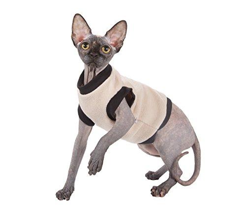 Kotomoda Katzen Kleidung Pullover Beige Fleece (M)