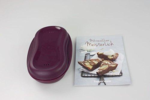 TUPPERWARE Mikrowelle Omlett-Meister lila + Mikrowelle meisterlich Kochheft 30883
