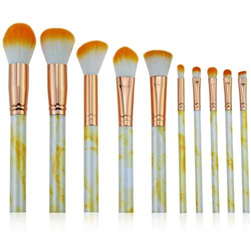 Lot de 10 pinceaux de maquillage cosmétiques pour fond de teint, blush, anti-cernes, ombre à paupières, eyeliner