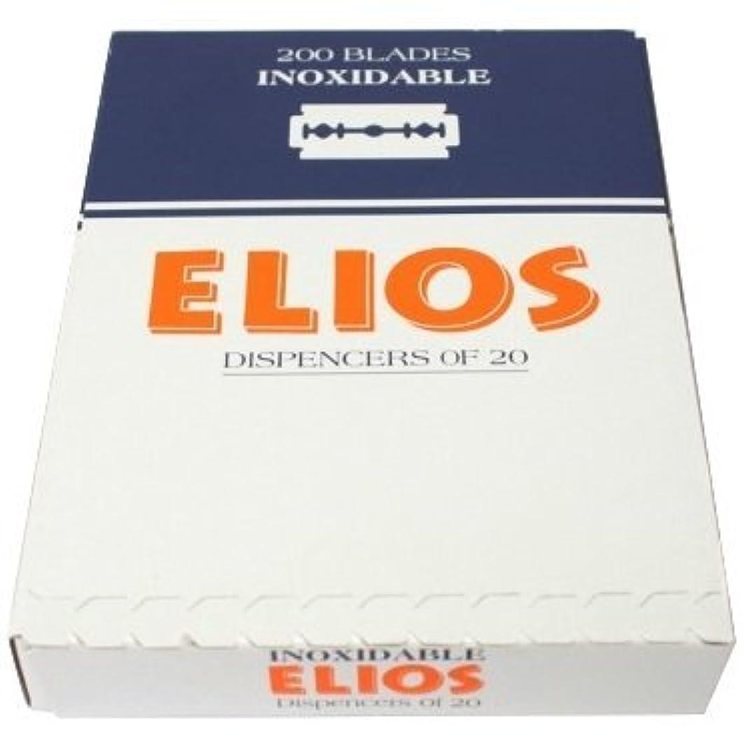 シリング肥沃な天気Elios Inoxidable 両刃替刃 100枚入り(10枚入り10 個セット)【並行輸入品】