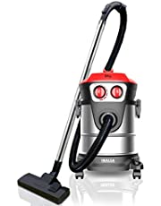 Inalsa Vacuum Cleaner Wet and Dry Micro WD21-1600W with 3in1 Multifunction Wet/Dry/Blowing|Hepa Filteration & 21KPA Powerful Suction,(Red/Black)